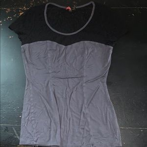 Forever 21 grey and black shirt